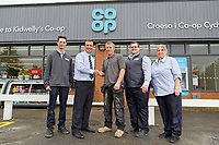 L-R Aaron Parker, store manager Anthony Thorne with site manager Nick Ward, Dan Pritchard and Dawn Higginson-Thomas