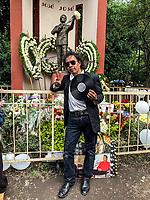 Juan Nava admirador de José José pide que traigan el cuerpo del maestro de la canción para su homenaje en mexico. Parque China en la Ciudad de México . Por enviado especial de NortePhoto.com a Ciudad de México 30sep2019
