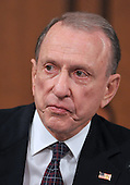 Washington, DC - July 13, 2009 -- United States Senator Arlen Specter (Democrat of Pennsylvania) makes his opening statement as the U.S. Senate Judiciary Committee considers the nomination of Judge Sonia Sotomayor as Associate Justice of the U.S. Supreme Court on Monday, July 13, 2009.  Specter, a former Chairman of the committee, lost his seniority when he moved from the Republican Party to the Democratic Party..Credit: Ron Sachs / CNP