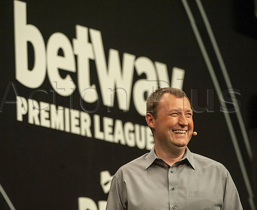 09.04.2015. Sheffield, England. Betway Premier League Darts. Matchday 10. Commentator Wayne Mardle.
