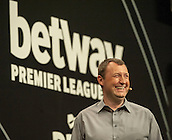 09.04.2015. Sheffield, England. Betway Premier League Darts. Matchday 10. Commentator Wayne Mardle.