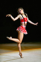 "Marina Shpekht of Russia performs in gala exhibition at 2007 World Cup Kiev, ""Deriugina Cup"" in Kiev, Ukraine on March 18, 2007."