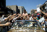 Patrick Roy attend  the Stanley Cup parade, June 20, 1986