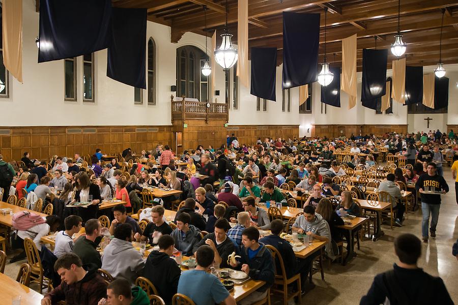 Nov. 4, 2013; South Dining Hall dining room<br /> <br /> Photo by Matt Cashore/University of Notre Dame