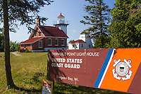 The Sherwood Point Lighthouse in Sturgeon Bay Wisconsin was established in 1883, and it's continues to shine today on the west side of the north entrance to Sturgeon Bay.