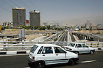 Flyovers and modern roads, Tehran, Iran, 11 July 2005. <br />