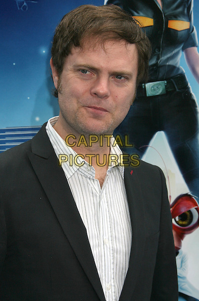 "RAINN WILSON.""Monsters vs. Aliens"" Los Angeles Premiere held at Universal City Walk Gibson Amphitheater, Universal City, California, USA..March 22nd, 2009.half length black white shirt collar jacket .CAP/ADM/MJ.©Michael Jade/AdMedia/Capital Pictures."