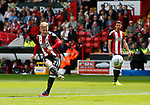Mark Duffy of Sheffield Utd has a shot on goal during the Championship League match at Bramall Lane Stadium, Sheffield. Picture date 19th August 2017. Picture credit should read: Simon Bellis/Sportimage