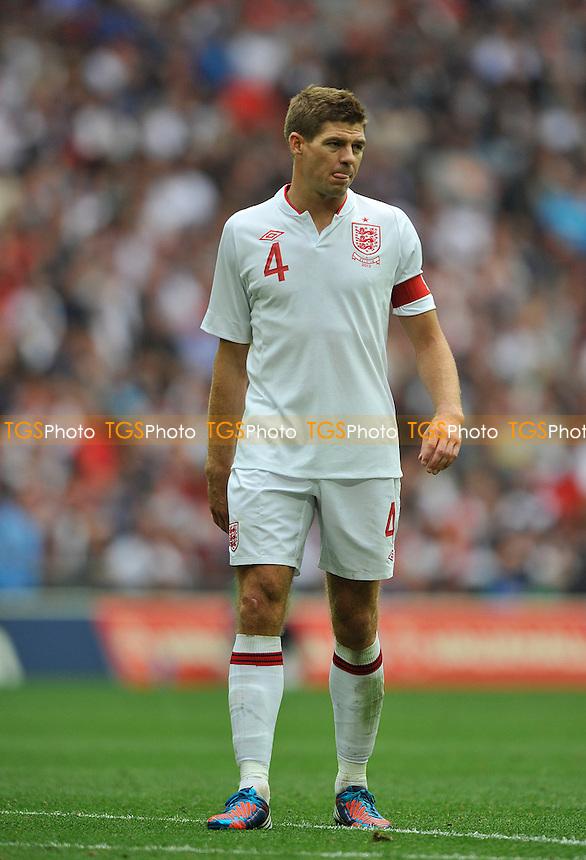 Steven Gerrard of England - England vs Belgium - International Football Friendly Match at Wembley Stadium, London -02/06/2012 - MANDATORY CREDIT: Martin Dalton/TGSPHOTO - Self billing applies where appropriate - 0845 094 6026 - contact@tgsphoto.co.uk - NO UNPAID USE.