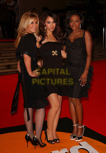 HEIDI RANGE, AMELIE BERRABAH & KEISHA BUCHANAN - SUGABABES.The Brit Awards 2006.Earls Court, London England.15 February 2006.Ref: FIN.earl's pop music Brits full length black dress .www.capitalpictures.com.sales@capitalpictures.com.© Capital Pictures.