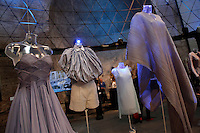 Yunia Watanabe<br /> Roma 03-04-2016 Terme di Diocleziano. Mostra 'In Acqua: H2O molecole di creativita'. Decine di stilisti hanno creato, per l'occasione, abiti, accessori e gioielli che richiamano l'acqua.<br /> Diocleziano Thermae. Exhibition 'In water: H2O molecules of creativity'.Tens of famous stylists created dresses, accessories and jewels that recall water.<br /> Photo Samantha Zucchi Insidefoto