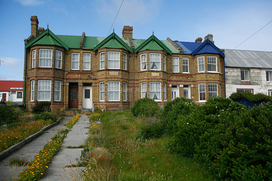"""Stanley is the administrative seat of the Falkland Islands dependencies which until recently included the South Georgia and British Antarctic territory. 1500 """"kelpers"""" call Staley home and surround themselves with extensive gardens full of lupins, daisies and other colourful fowers."""