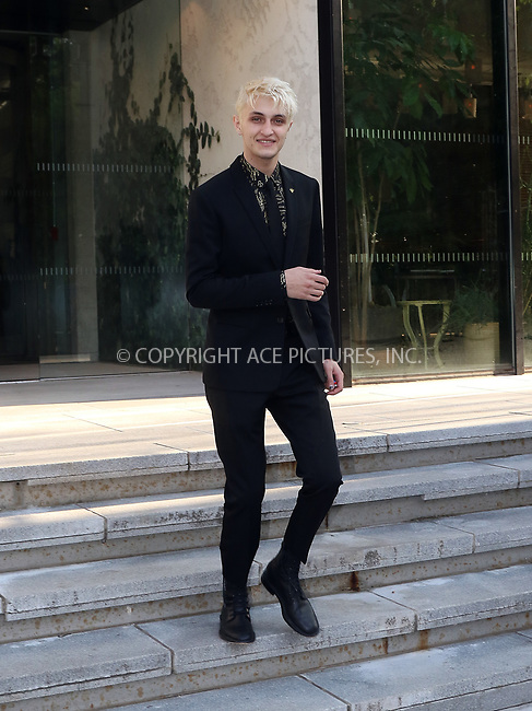 www.acepixs.com<br /> <br /> June 4 2018, New York City<br /> <br /> Model Anwar Hadid leaves a Brooklyn hotel on the way to the CFDA fashion awards on June 4 2018 in New York City<br /> <br /> By Line: John Sheene/ACE Pictures<br /> <br /> <br /> ACE Pictures Inc<br /> Tel: 6467670430<br /> Email: info@acepixs.com<br /> www.acepixs.com