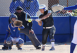 Western Nevada's Gabrielle Canibeyaz hits against Salt Lake Community College at Edmonds Sports Complex in Carson City, Nev., on Friday, April 15, 2016. <br />Photo by Cathleen Allison