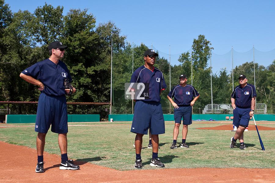 Baseball - MLB Academy - Tirrenia (Italy) - 19/08/2009 - Gijs Selderijk, Barry Larkin,  Wally Joyner, John McLaren
