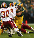 DARYN COLLEDGE, of the Green Bay Packers, in action during the Packers games against the Washington Redskins, in Green Bay, Wisconsin on October 14, 2007.  ..The Packers won the game 17-14...COPYRIGHT / SPORTPICS..........