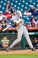 Jeremy Rathjen #3 of the Rice Owls takes his swings against the Baylor Bears at Minute Maid Park on March 6, 2011 in Houston, Texas.  Photo by Brian Westerholt / Four Seam Images