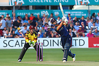 Ryan ten Doeschate hits out for Essex as Steven Davies looks on from behind the stumps during Essex Eagles vs Somerset, NatWest T20 Blast Cricket at The Cloudfm County Ground on 13th July 2017