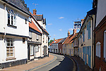 Historic buildings in the town of Wymondham, Norfolk, England
