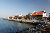USA, California, San Diego, Seaport Village waterfront shopping and dining complex next to the San Diego Bay