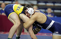 PHILADELPHIA, PA - NOVEMBER 18: Vincenzo Joseph of the Penn State Nittany Lions wrestles during the 165 pound championship match at the Keystone Classic on November 18, 2018 at The Palestra on the campus of the University of Pennsylvania in Philadelphia, Pennsylvania. (Photo by Hunter Martin/Getty Images) *** Local Caption *** Vincenzo Joseph