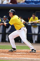 March 21, 2010:  First Baseman Mike Dufek (7)) of the Michigan Wolverines at bat during a game at Tradition Field in St. Lucie, FL.  Photo By Mike Janes/Four Seam Images