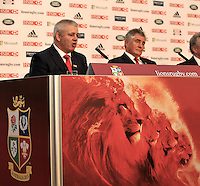 Lions 2013. Warren Gatland, who has been appointed head coach of the British and Irish Lions for the tour to Australia in 2013 looks on at the press conference held at Ironmonger's Hall on September 4, 2012 in London, England.