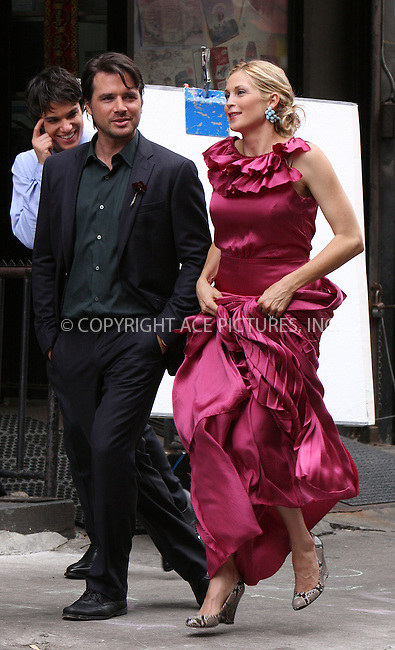 """WWW.ACEPIXS.COM . . . . .  ....August 12 2009, New York City....Actors Matthew Settle and Kelly Rutherford on the set of the TV show """"Gossip Girl"""" in Manhattan on August 12, 2009 in New York City.....Please byline: AJ Sokalner - ACEPIXS.COM..... *** ***..Ace Pictures, Inc:  ..tel: (212) 243 8787..e-mail: info@acepixs.com..web: http://www.acepixs.com"""