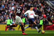 2nd February 2019, Wembley Stadium, London England; EPL Premier League football, Tottenham Hotspur versus Newcastle United; Erik Lamela of Tottenham Hotspur runs with the ball