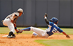 "Major League Baseball prospect Valerio Allen slides in safely during the final game of the ""Torneo Supremo"" at the Quiskeya National Stadium in Santo Domingo. The Tournament which aims to maximize the ability of Major League Baseball organizations to scout in the Dominican Republic. According to the MLB's office in the Dominican Republic, this year, the tournament introduced 23 new baseball prospects. July 29 2011. ViewPress/ Kena Betancur"
