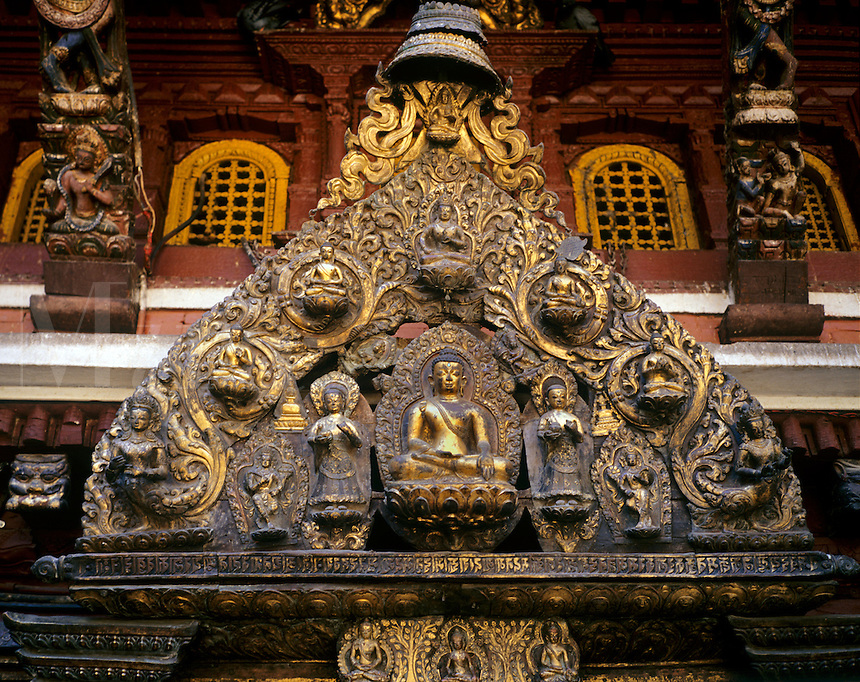 Priceless BUDDHA statues inside the 12th  Century KWA BAHAL or GOLDEN TEMPLE in PATTAN - KATHMANDU, NEPAL