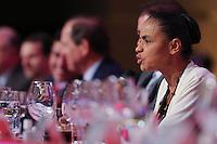 """SAO PAULO, SP, 28.04.2014 - LIDE / ALMOCO-DEBATE - EDUARDO CAMPOS E MARINA SILVA - Ex ministra do Meio Ambiente Marina Silva durante Almoço-Debate """"Um Programa de Governo para o Brasil"""". promovido pelo LIDE (Grupo de Líderes Empresariais) no Hotel Hyatt em São Paulo, nesta segunda-feira, 28. (Foto: Vanessa Carvalho / Brazil Photo Press)."""