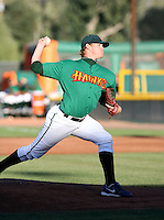 Aaron Shafer / Boise Hawks pitching against the Yakima Bears - Boise, ID - 08/27/2008..Photo by:  Bill Mitchell/Four Seam Images