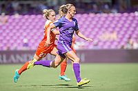 Orlando, FL - Saturday June 24, 2017: Camille Levin, Rachel Hill during a regular season National Women's Soccer League (NWSL) match between the Orlando Pride and the Houston Dash at Orlando City Stadium.