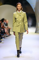 MELBOURNE - September 5, 2019: A model wearing CAMILLA AND MARC walks at the Town Hall Closing Runway show during Melbourne Fashion Week in Melbourne, Australia. Photo Sydney Low