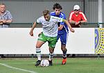 2018-08-12 / voetbal / seizoen 2018 - 2019 / Crocky Cup / Dessel Sport - Diegem / William Baeten (l) (Dessel Sport) houdt Cédric Mertens (r) (Diegem) af