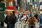 Rush hour on the streets of NYC in midtown manhattan, people