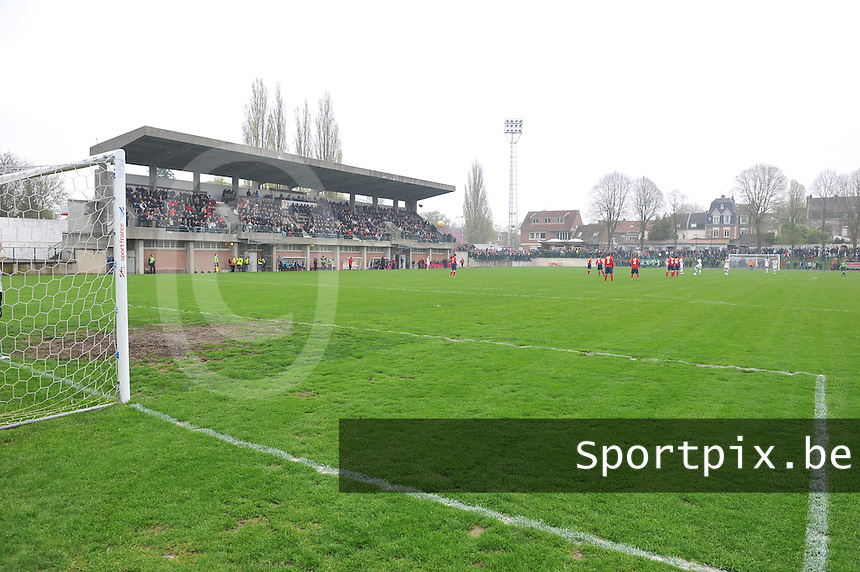 1/2 finale Coupe De France in Arras , stade Degouve : Arras - Olympique Lyonnais Lyon : Stade Degouve.foto JOKE VUYLSTEKE / Vrouwenteam.be