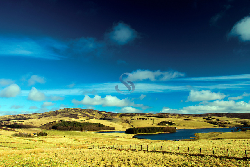 Spartleton and Whiteadder Reservoir from The Herring Road, the Lammermuir Hills, East Lothian