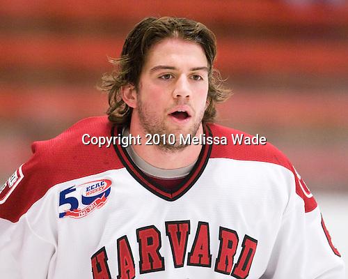Ryan Grimshaw (Harvard - 6) - The visiting Quinnipiac University Bobcats defeated the Harvard University Crimson 3-1 on Wednesday, December 8, 2010, at Bright Hockey Center in Cambridge, Massachusetts.