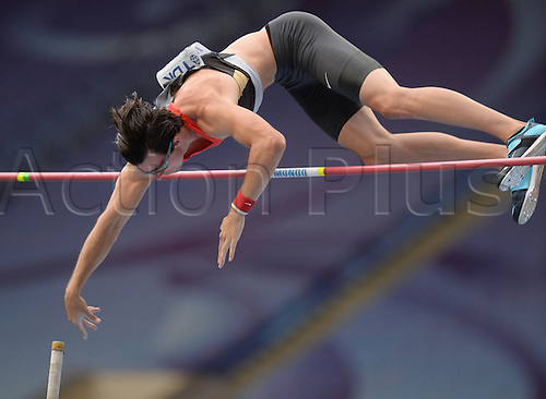 12.08.2013. Moscow, Russia.  Malte Mohr of Germany competes in the men's Pole Vault Event at the 14th IAAF World Championships in Athletics at Luzhniki Stadium in Moscow, Russia, 12 August 2013.