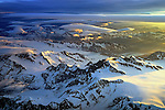 Alaska sunset flying in to Anchorage