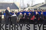 CLASSROOMS: Minister of State and Government Chief Whip, Pat Carey TD, a former student of Presentation Secondary School, Milltown, joined staff and students on Monday to officially open new classroom facilities at the school.