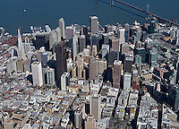 aerial photograph financial district San Francisco, California