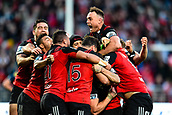 June 3rd 2017, AMI Stadium, Christchurch, New Zealand; Super Rugby; Crusaders versus Highlanders;  Israel Dagg of the Crusaders celebrates winning the match during the Super Rugby match