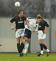 27/11/2004  Copyright Pic : James Stewart.File Name : jspa04_falkirk_v_ross_county.MARK CAMPBELL AND SEAN HIGGINS CHALLENGE......Payments to :.James Stewart Photo Agency 19 Carronlea Drive, Falkirk. FK2 8DN      Vat Reg No. 607 6932 25.Office     : +44 (0)1324 570906     .Mobile   : +44 (0)7721 416997.Fax         : +44 (0)1324 570906.E-mail  :  jim@jspa.co.uk.If you require further information then contact Jim Stewart on any of the numbers above.........
