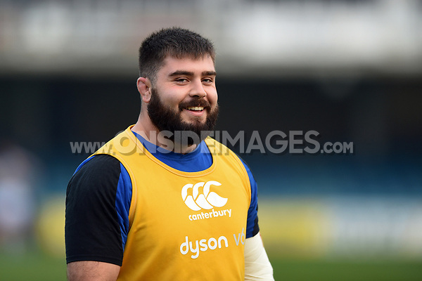 Will Vaughan of Bath United looks on during the pre-match warm-up. Premiership Rugby Shield match, between Bath United and Gloucester United on April 8, 2019 at the Recreation Ground in Bath, England. Photo by: Patrick Khachfe / Onside Images