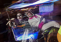Dressed in festive costumes, New Yorkers brave a chilly night to participate in the 41st Annual Halloween Parade. 10.31.2014. Photo by Marco Aurelio/VIEWpress