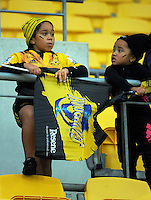 Fans arrive for the Super Rugby match between the Hurricanes and Southern Kings at Westpac Stadium, Wellington, New Zealand on Friday, 25 March 2016. Photo: Dave Lintott / lintottphoto.co.nz