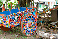 Hand made Ox cart wagon, Costa Rica, Central America